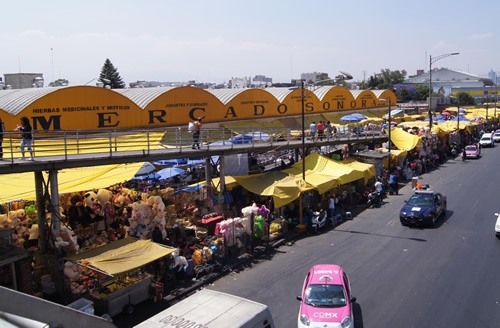A public market so common in Mexico