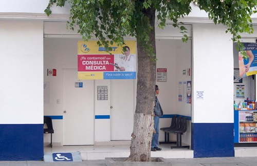 Pharmacy in Mexico. Many have very competent doctors who can provide prescriptions on site.