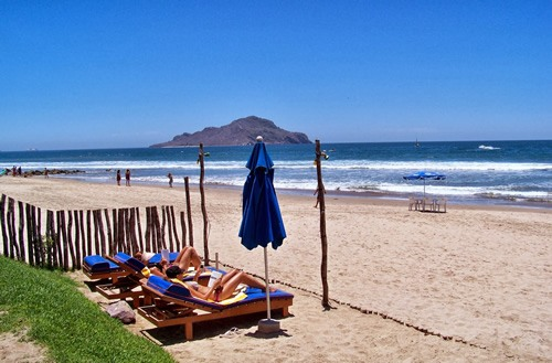 Beach in the Mazatlan area