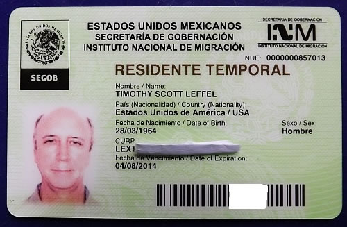 Temporary Mexico visa