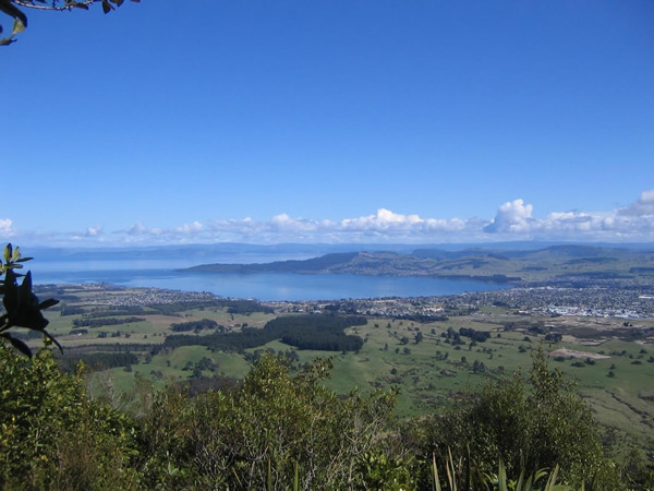 View of Lake Taupo New Zealand