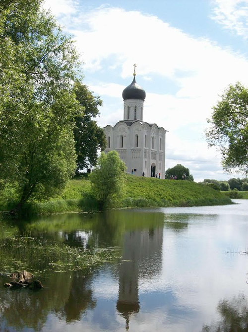 The Church of the Intercession of the Holy Virgin in Bogolyubovo, Russia