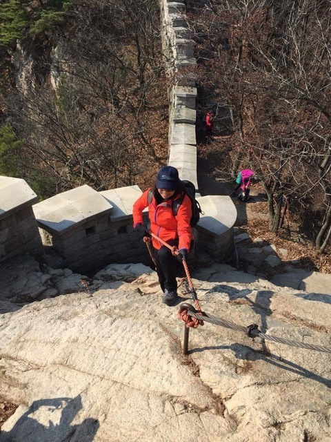 Hiking is a favorite activity in South Korea when not working