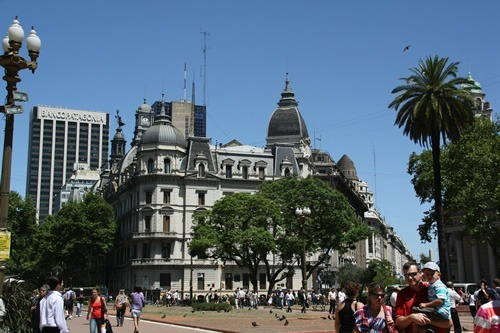 A square in Buenos Aires