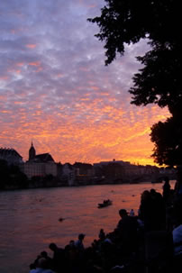 Basel, Switzerland, Sunset