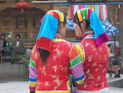 Tu minority women, Quinghai Province, China