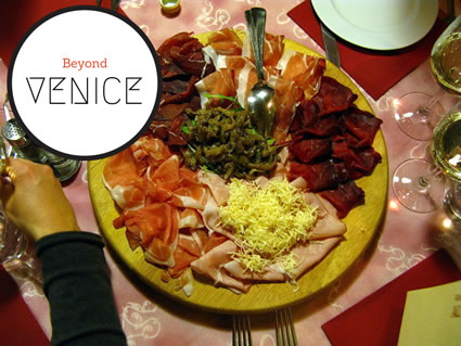 An antipasto plate food from Friuli, Venice