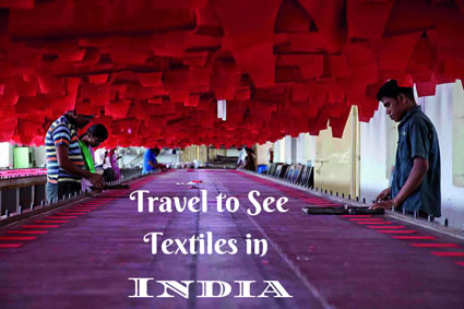 Travel to see textiles in India