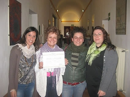 Author with teachers at Il Sasso Italian Language School