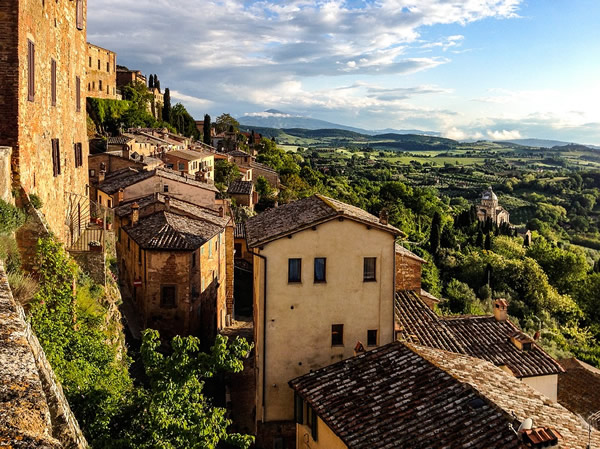 One view from the historic center of Montepulciano, Italy
