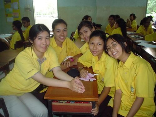 Author studying in Thailand High School