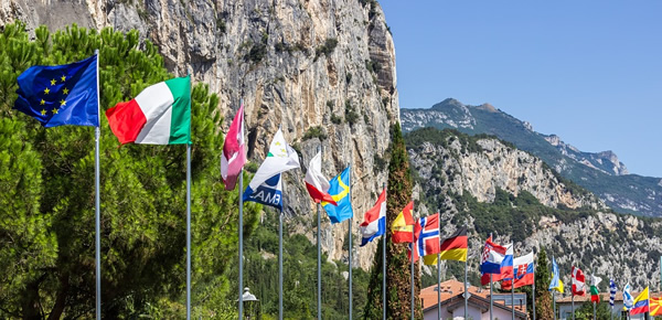 Flags from countries around the world for study abroad