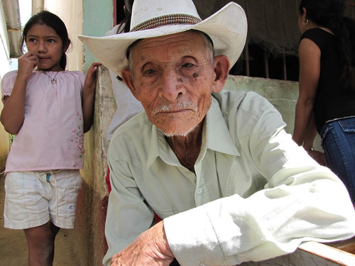 Older man and young girl in Honduras