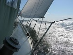 Adventure sailing on a sailboat around the world