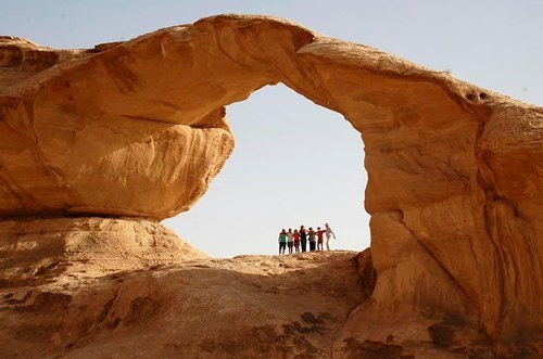 Group travel Hiking in Jordan