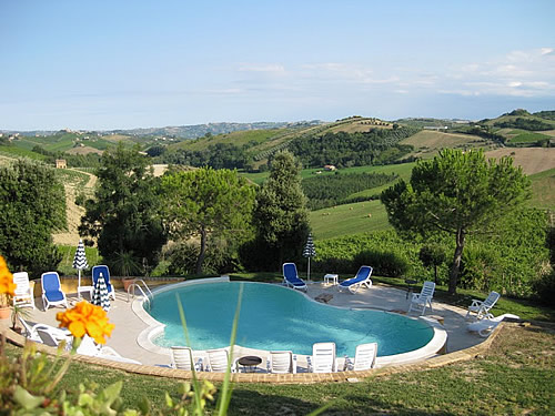 Swimming pool at agriturismo