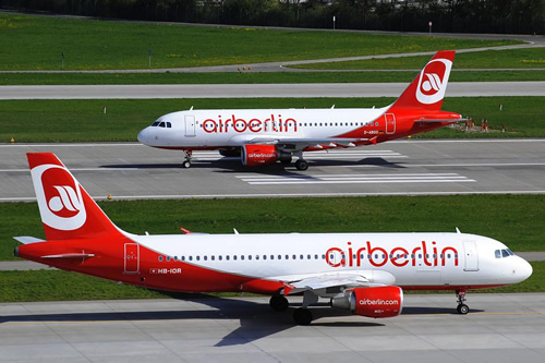 Two Airbus A320 from Air Berlin