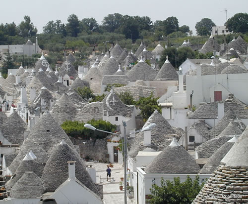 The skyline of Alberobello, Puglia, Italy
