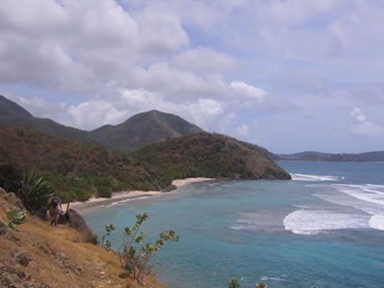 Hiking on the Southwest part of Antigua.