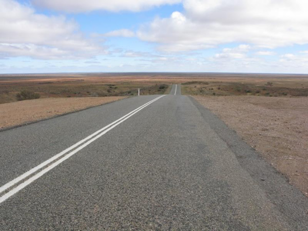 You can drive for days between cities in the huge country of Australia.