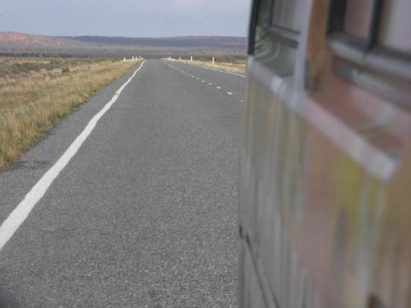 Road in Australia seen campervan