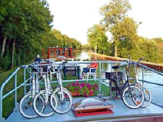 Bicycles on Johanna barge