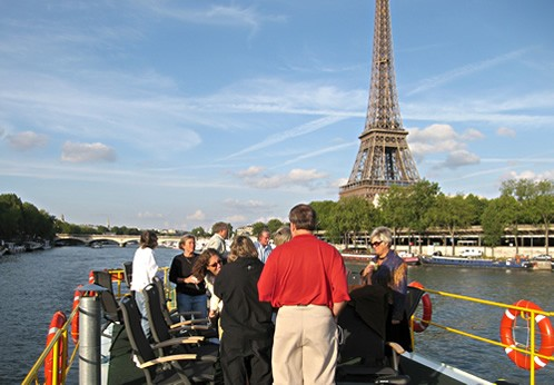 Barging on the Seine in  Paris