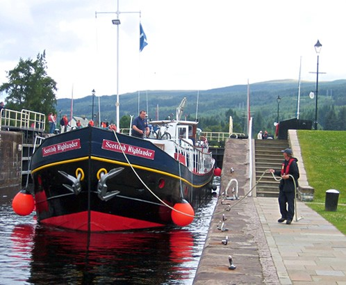 Scottish Highlander Barge in Scotland