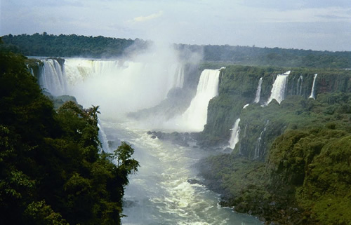 The Iguacu falls in Brazil