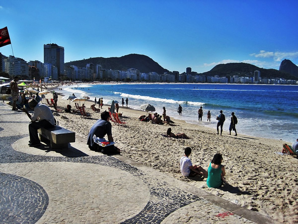 Be safe at the Copabana beach in busy Rio