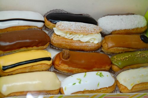 Eclairs in Bucharest