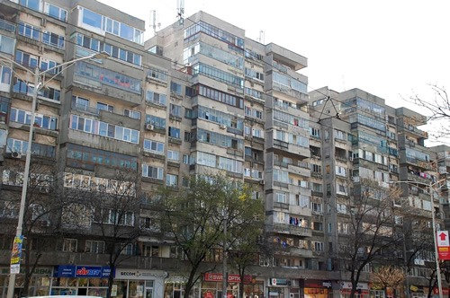 Apartment blocks from communist era