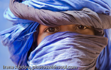 Fuliani Boy in Blue Turban
