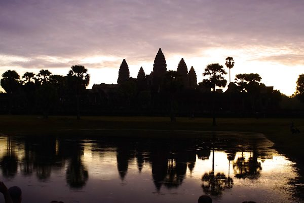 Angor Wat at sunrise