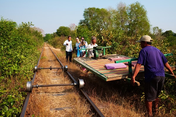 Bamboo train at Battambang