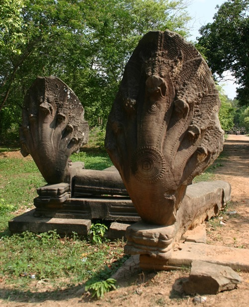 Naga temple guardians in Cambodia