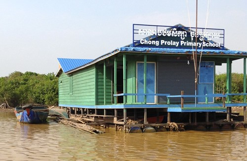 School on stilts at Tonle Sap Lake