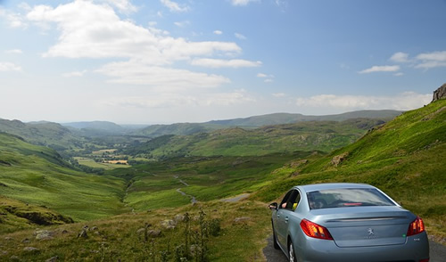 Car in Lake District