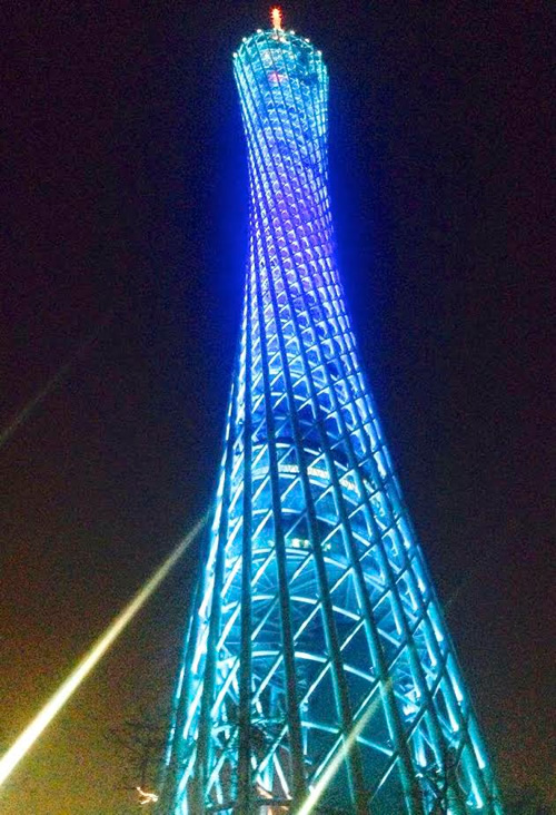 Ultra-modern Canton Tower, designed by a Dutch duo