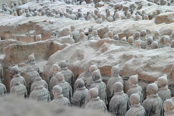 Terra cotta warriors of Xi'an, China