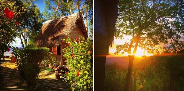 Cabin and sunrise in Tubagua