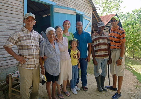 We met our tour guide Juanin's (far right) family while on the hike