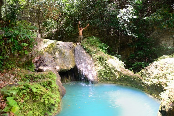Our guide Juanin had just as much fun jumping into God's Pools