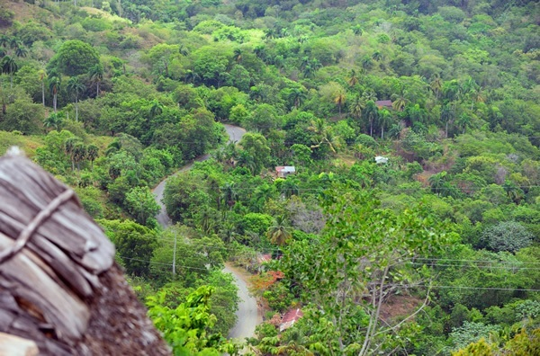 Panoramic road leading to the eco lodge in the Dominican Republic