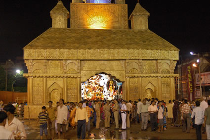 The durga puja celebration in india pandal hopping a favorite activity during festival altavistaventures Choice Image
