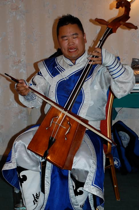 Fiddle band in Mongolia ger camp