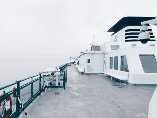 Ferry at sea
