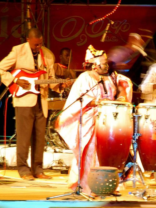 Festival on Niger: Band playing