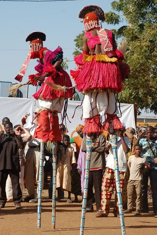 Festival on the Niger - Men on Stilts