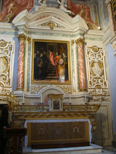 Alterpiece at the Convent of Santa Maria degli Angioli in Florence, Italy.